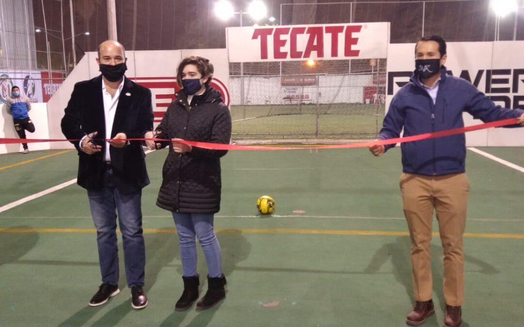 Reinaguración de cancha multimodal para Minifubol y Futbol Rápido